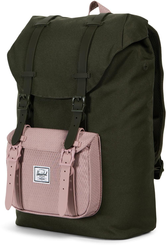 0a7e3de7a71f8 ▷ Herschel Little America Mid-Volume Backpack Forest Night Ash Rose ...